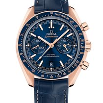 Omega Rose gold Automatic Blue 44.2mm new Speedmaster Racing