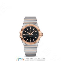 Omega Red gold Automatic Black No numerals 35mm new Constellation Ladies