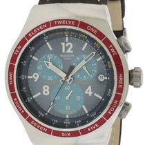 Swatch Recoleta Chronograph Leather Mens Watch
