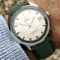 Omega Seamaster Cosmic Green Strap vintage mens watch + Box