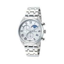 Edox Steel Quartz Silver Roman numerals 48mm new