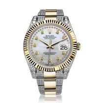 Rolex Datejust II Arany/Acél 41mm Gyöngyház Számjegyek nélkül