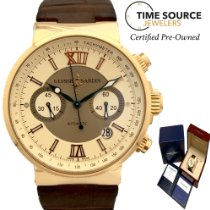 Ulysse Nardin Yellow gold Automatic pre-owned Marine Chronograph