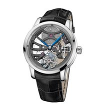 Ulysse Nardin Classic Skeleton Tourbillon White gold 44mm Silver No numerals