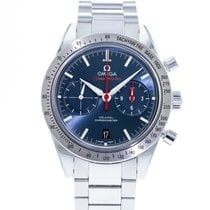 Omega Speedmaster '57 pre-owned 41.5mm Blue Chronograph Date Tachymeter Steel