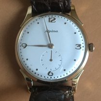 Alpina Yellow gold Manual winding Champagne 35mm pre-owned