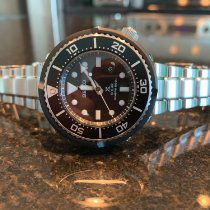 Seiko Prospex Steel 46mm Black No numerals