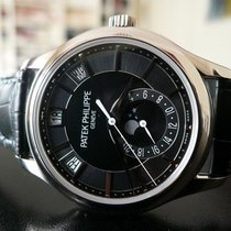 Patek Philippe Annual Calendar Or blanc 40mm Noir Sans chiffres