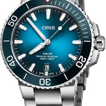 Oris Aquis Date Steel 39.5mm Blue United States of America, California, Moorpark