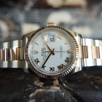 Rolex Datejust Aur/Otel 36mm Alb