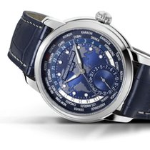 Frederique Constant Manufacture Worldtimer Staal 42mm Wit Geen cijfers