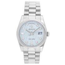 Rolex President Day-Date Men's 18k White Gold Watch Rolex...
