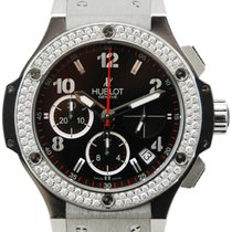 Hublot Big Bang 41 mm Diamond Bezel Black Dial - 342.CV.130.RX...