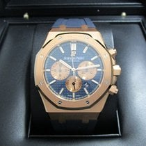 Audemars Piguet Royal Oak Chronograph Roségold 41mm Blau Keine Ziffern