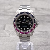 Rolex GMT Mater II With Ruby, Sapphire & Diamond Bezel & Shoulder