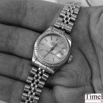 Rolex Lady-Datejust mit 12 Diamanten Box & Papieren LC100