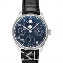 萬國 Portugieser Perpetual Calendar Blue White Gold/Leather 44.2m
