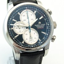 Maurice Lacroix Pontos Chronographe Rétro Staal 44mm Zwart