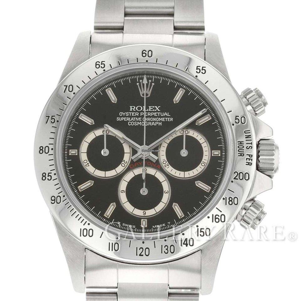 release date 2d1b4 ef1a1 Rolex Cosmograph Daytona Black Dial Steel 40MM