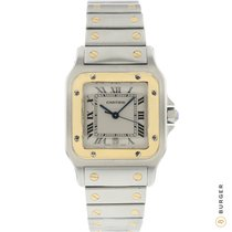 Cartier Santos Galbée Gold/Steel 29mm White Roman numerals