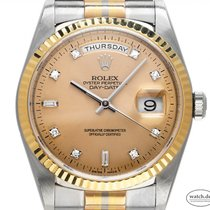 Rolex Day-Date 36 Hvitt gull 36mm