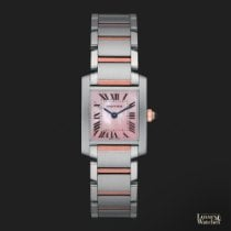Cartier Tank Française Gold/Steel 20mm Mother of pearl Roman numerals