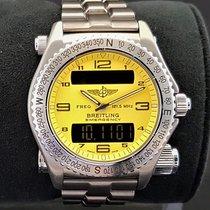 Breitling Emergency Titanium 43mm Yellow Arabic numerals