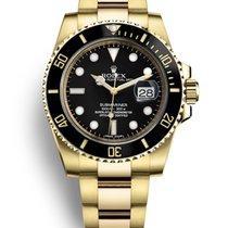 Rolex Submariner Date Yellow gold 40mm Black No numerals Canada, Abbotsford