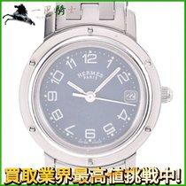 Hermès Clipper Stahl 24mm Blau