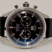 Zenith El Primero nuevo Automático Cronógrafo Reloj con estuche y documentos originales 03.2050.4026/ 91.C714