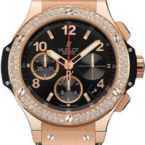 Hublot Big Bang 41mm, Black Dial, Diamond Bezel - Rose Gold on...