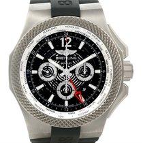 Breitling Bentley Chronograph Gmt Black Dial Titanium Watch...