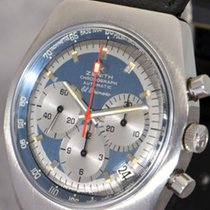 Zenith Steel Automatic Blue 38mm pre-owned El Primero Chronograph