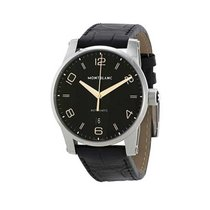 Montblanc 110337 Timewalekr 42mm Automatic in Steel - On Black...