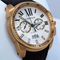 Cartier Calibre W7100044 18k Rose Gold 42mm Chronograph Automatic