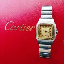Cartier Santos Galbée Gold/Steel 29mm Yellow Roman numerals