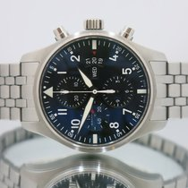 IWC Pilot Chronograph Steel 43mm Black Arabic numerals United Kingdom, Essex