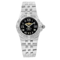 Breitling Galactic 30 pre-owned 30mm Black Steel