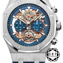 Audemars Piguet Royal Oak Tourbillon Platina Blauw