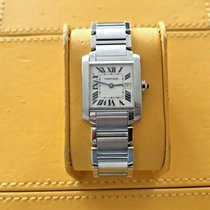 Cartier Tank Française Steel 30mm Silver Roman numerals United States of America, New Jersey, Edgewater