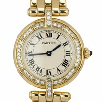 Cartier Panthère Yellow gold 24mm Champagne Roman numerals United States of America, New York, Massapequa Park