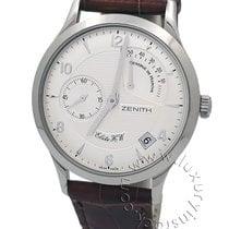Zenith Elite Power Reserve Steel 37mm Silver Arabic numerals