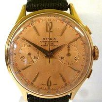 Chronographe Suisse Cie vintage APEX chrono gold 18ct