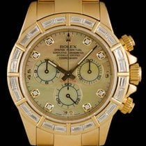 롤렉스 (Rolex) Daytona Gold Mother Of Pearl Dial Baguette Diamond...