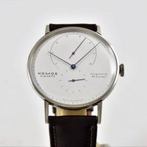 Nomos Lambda Weißgold With Tempered Blue Hands