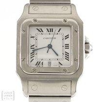 Cartier Uhr Santos Quarz Edelstahl Herren 987901