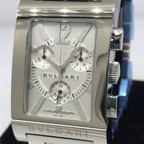 Bulgari Rettangolo Stainless Steel Chronograph Men's Bracelet...