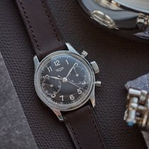 Heuer Chronograph 34.5mm Manual winding 1940 pre-owned Black
