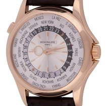 Patek Philippe 39mm Automatic 2014 pre-owned World Time Silver