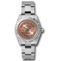Rolex Oyster Perpetual Steel 31mm Pink Arabic numerals